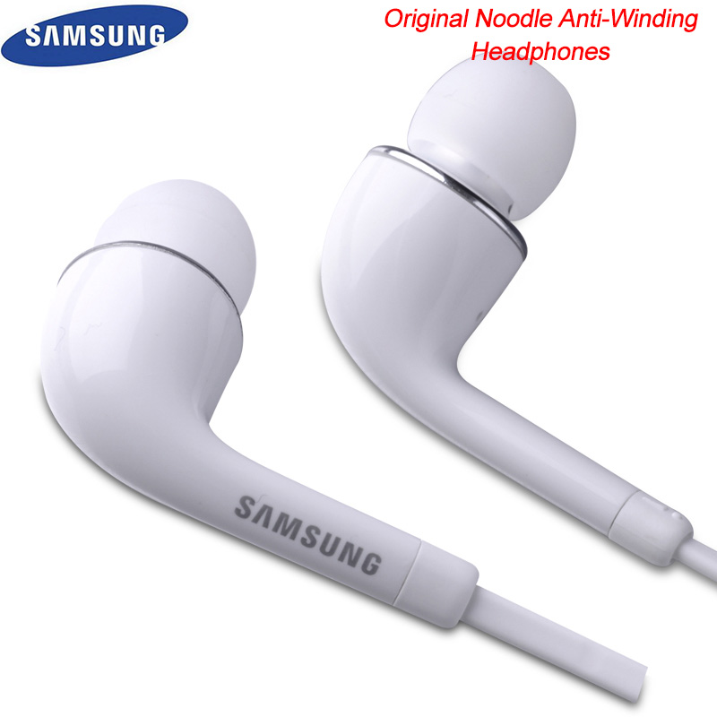 Original Samsung Earphone Flat Cord Super Bass Earbuds With Mic/Volume Control For Galaxy A10 A30 A50 A70 M30 S7 S8 S9 S10 Plus