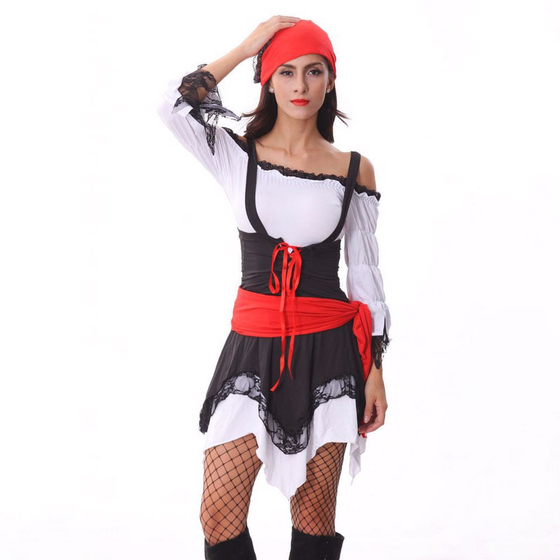 Halloween Sexy Fancy Party Dress Women Pirate Cosplay Costume Adult Pirate Jack Sparrow Halloween Cosplay Uniform