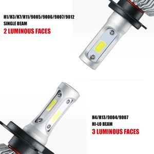Image 5 - Auxmart LED H7 H4 H11 لمبة H1 H3 HB4 9006 HB3 9005 H13 LED مجموعة مصابيح سيارة 72W 8000lm 6500K LED مصباح السيارات H 7 11 LED سيارة ضوء 12v