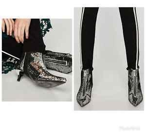 Pailletten frauen stiefeletten herbst und winter mode niedrigen absätzen spitz schaffell inneren weiblichen stiefel plus größe