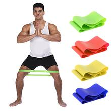 4 Levels Rubber Resistance Bands Fitness Exercise Equipment Body Building Latex Pull Rope Fitness Yoga Strength Band(China)