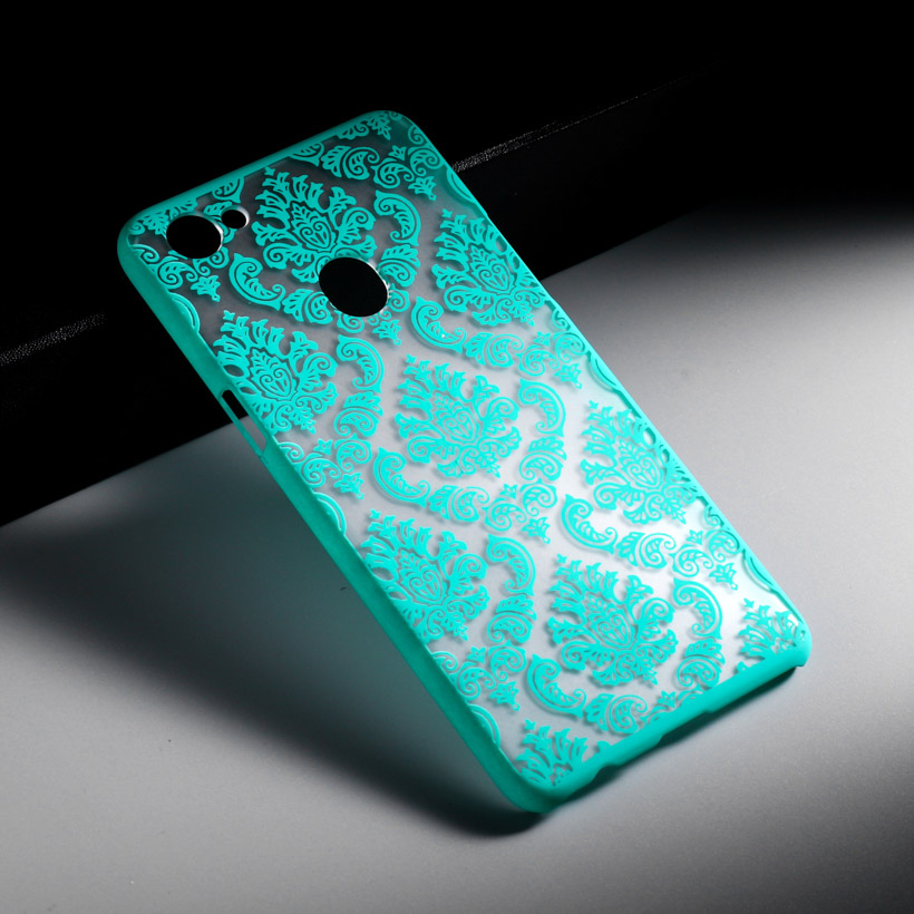 AKABEILA Hard Plastic Case For OPPO F7 6.28 inch Cases Floral Retro Anti-knock Shell New Fashion Phone Covers Protection Bags