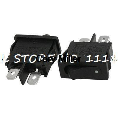 AC 6A250V 12A125V 2 Pin SPST ONOFF 2 Position Mini Boat Rocker Switch