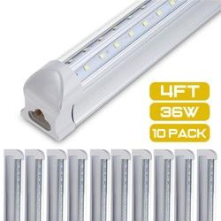 10 قطعة أنبوبة ليد T8 ضوء مصباح 36 واط 100LM/ث المتكاملة أنبوبة جدار 120 سنتيمتر 4ft 300 مللي متر T8 Led أضواء سمد 2835 الإضاءة الباردة الأبيض 85-265 فولت