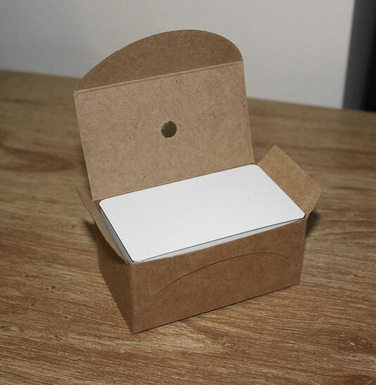 90/Box Blank White Cardstock Thick Paper Business Index Card Gift Tags Plain Note Cards 90*50mm