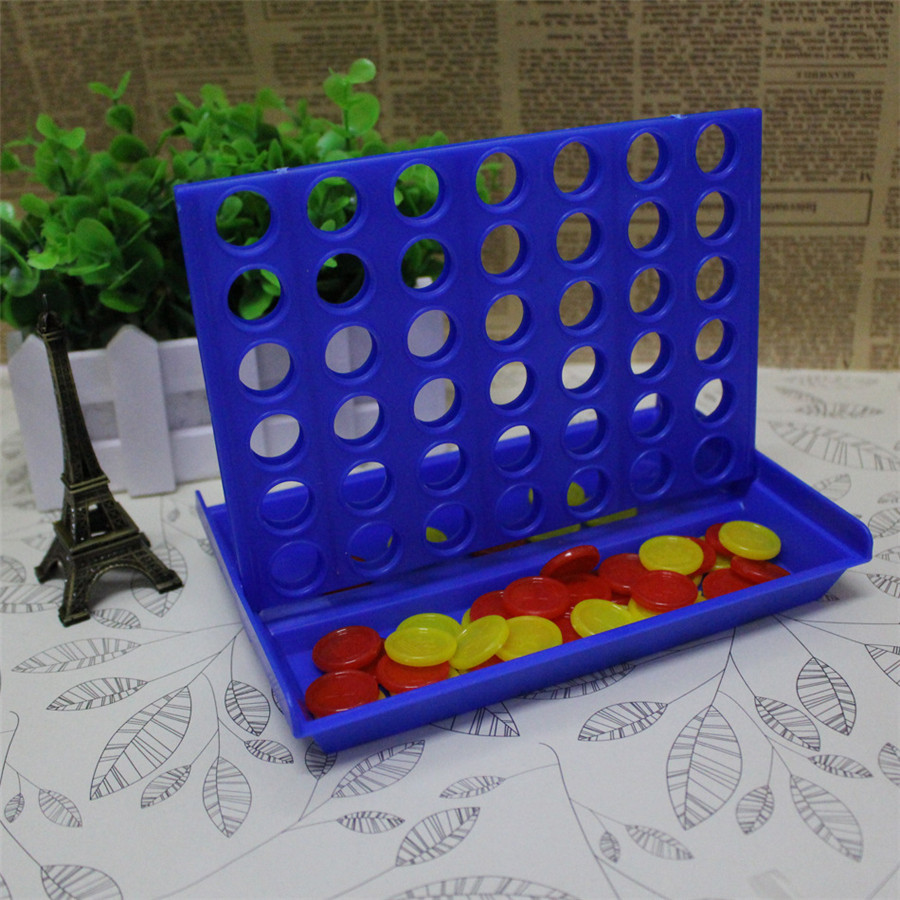 Blue Children Color Four with Chess Quadruple Parent-Child interaction Bingo Game Chess Educational Game Chess Board Games