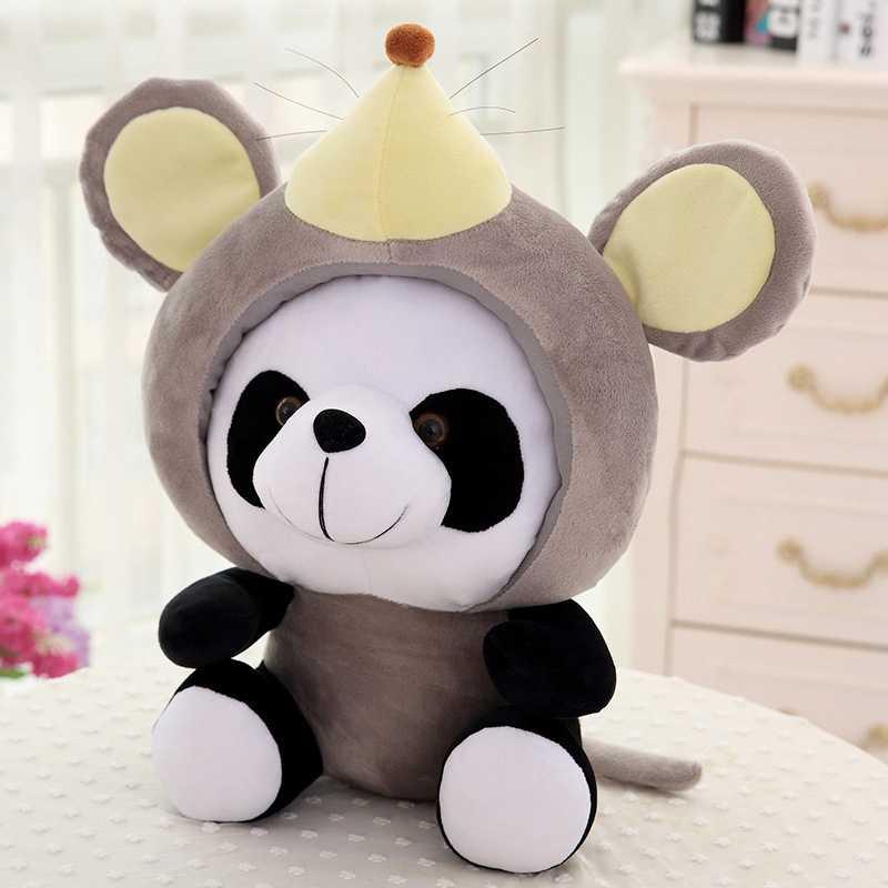 Weichen Cartoon Panda Plüsch Spielzeug 12 Chinese Zodiac Kawaii Pandas Tiere Pädagogisches Spielzeug Für Kinder Kinder Gefüllte Stich Puppe Geschenk