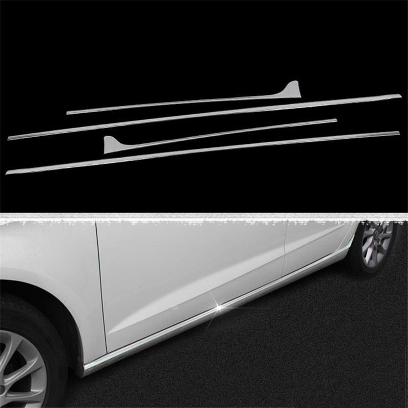 Front Bumper Grille automobile modified car styling modification decoration covers accessory accessories 14 15 16 FOR Audi A3 for toyota highlander iii 2014 2016 automobile stainless rear bumper cover decoration car styling stickers accessories