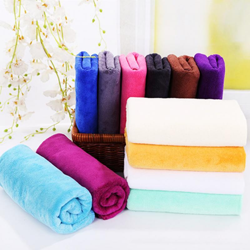 High Quality Thick Adult Bathroom Super Absorbent Quick-drying Microfiber Thick Bath Towel Bath Robe Hair Towel 35x75cm