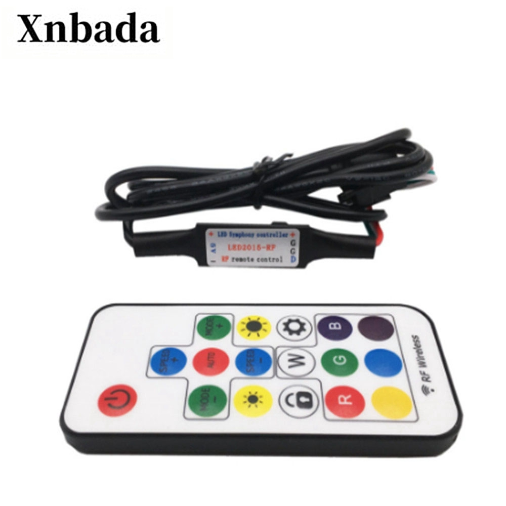 17Key RGB Led Controller With USB Led Wireless RF Led Controller For WS2812B SK6812 RGB Magic Color Led Strip Light 5V