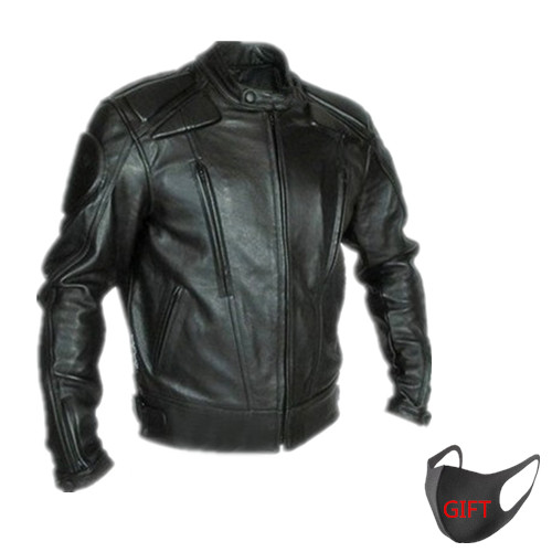 2018 Fashion Casual PU Motorcycle Jacket Road Riders Jacket Men's Outdoor Jacket with Detachable Protective Gear size :S-3XL