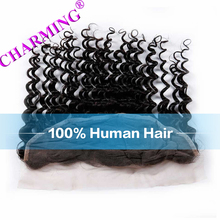 Charming Brazilian Deep Wave Grade 8A Unprocessed Virgin Hair 13*6 Lace Frontal Closure Cheap Human Hair Frontal Brazilian Hair