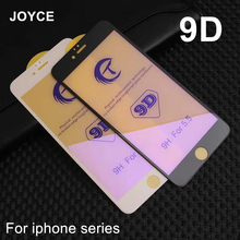 JOYCE 9D Tempered Glass Screen Protector For iPhone 6s 7 8 Plus XR XS Max Blu-ray film i8plus Full Cover Protective film Glass