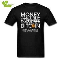 Hommes T-shirts Drôles de L'argent ne Peut pas Acheter Le Bonheur, Mais Il Peut Acheter Bitcoin T-shirts CryptoCurrency T-shirts Adulte courtes T-Shirts