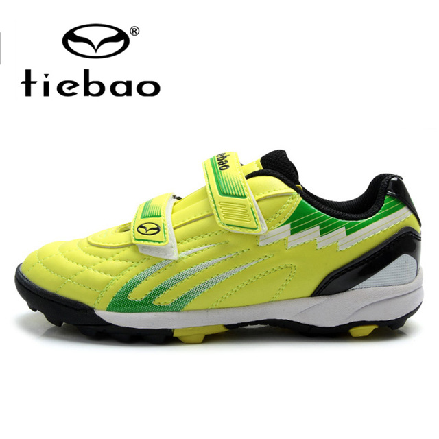 TIEBAO Professional Outdoor Soccer Shoes Boys Girls Training Shoes Sneakers Children Kids Teenagers TF Turf Sole Football Boots