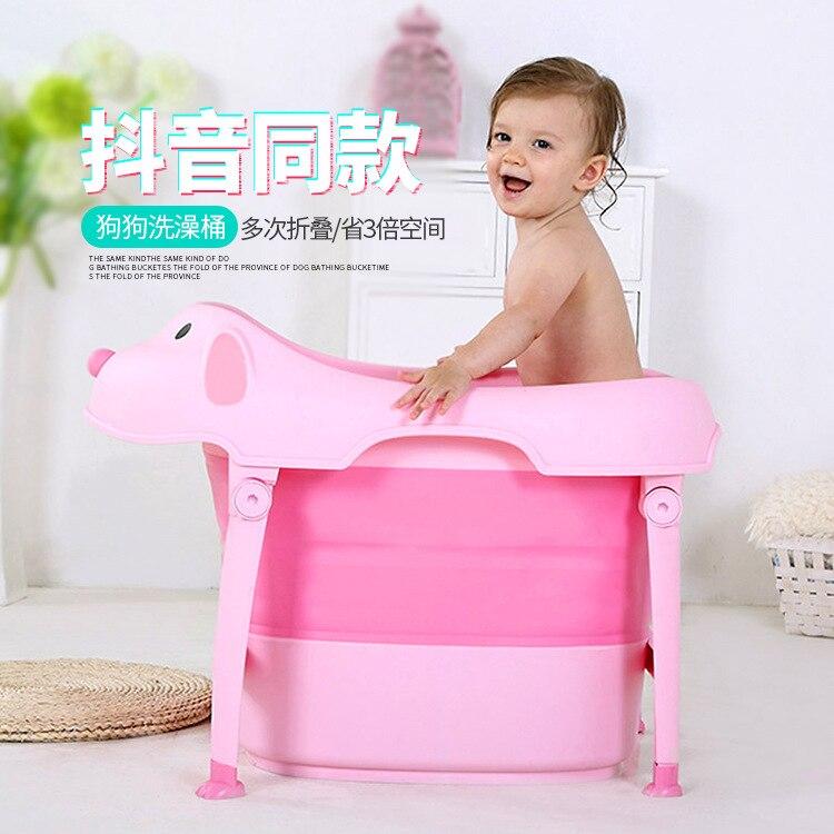 Baignoire bébé pliante Portable grande taille baignoire bébé Materia pour enfants baignoire pliante 6M-10 ans - 2