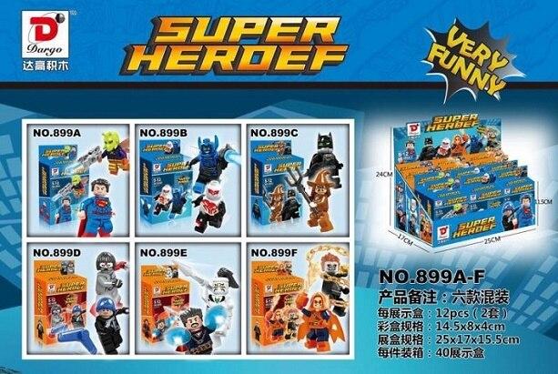 10Set Super Hero Killer Moth Gas Mask Batman Ghost Rider Spiderman Scarecrow Strange Doctor Building Blocks Kids Toys Dargo 899 видеоигра софтклаб batman рыцарь аркхема premium edition