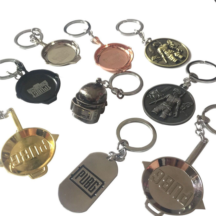 Game pubg playerunknown's battlegrounds Cosplay Costumes Keychain Pans Weapon Model Key Chain Necklace Pendant