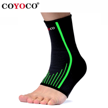 1 Pair Ankle Support Brace Guard COYOCO Sport Outdoor Bicycle Gym Anti Sprained Ankles Warm Protect Nursing Care Black Green