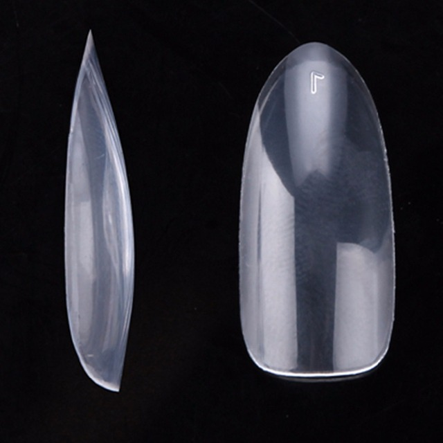100packs/lot 500 Oval Nails Tips Round Fullwell Clear Color Tips False Nail Art Tips Retail SKU:A0015XX