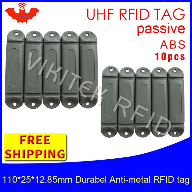 UHF RFID anti metal tag 915m 868m M4QT 110*25*12.85mm 10pcs free shipping durable ABS Steel bracket tray smart passive RFID card cmm0511 qt 0g0t rf if and rfid mr li