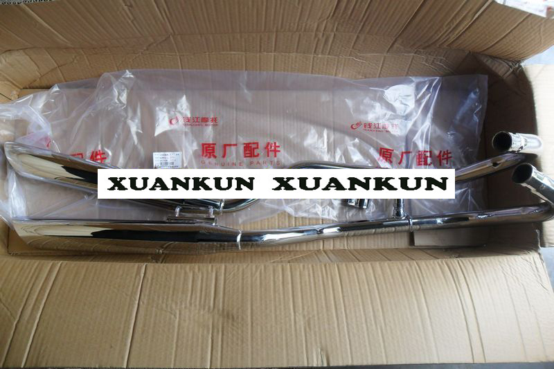 XUANKUN QJ250 3 Exhaust Pipe CA250 Muffler Big Cylinder Oblique Mouth|big mufflers|exhaust pipe muffler|pipe muffler - title=