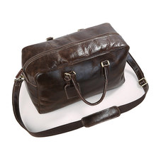 J.M.D Genuine Leather Unisex Travel Handbags Men's Luggage Travel Bag Tote Designs 7156LQ