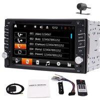 Бесплатная камера + 6,2 в тире двойной 2 DIN GPS для автомобиля, стерео dvd плеер Bluetooth Радио FM/AM/RDS1080p HD видео двойные ручки красочная лампа