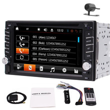 Free Camera+6.2″ In Dash Double 2 DIN Car GPS Stereo DVD Player Bluetooth Radio FM/AM/RDS1080p HD Video Dual Knobs Colorful lamp