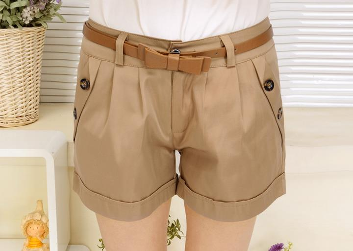 Ladies Khaki Shorts