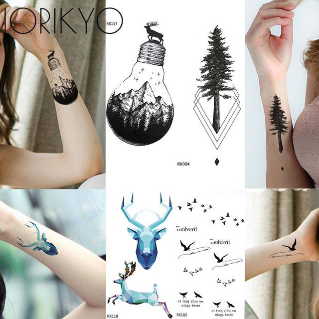 Little Birds Tattoo Stickers Women Arm Art Temporary Tattoo Blub