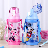 Disney SB60594 500ml Summer Kids Tritan Plastic Sport Water Bottle With Rope Straight Drinking Cup Press