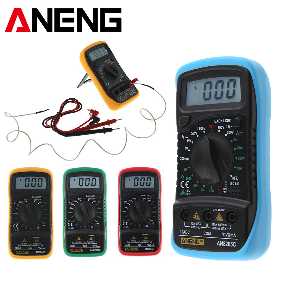 ANENG AN8205C Digital Multimeter Portable multi meter AC/DC voltage meter DC Ammeter resistance Temperature Tester цена 2017