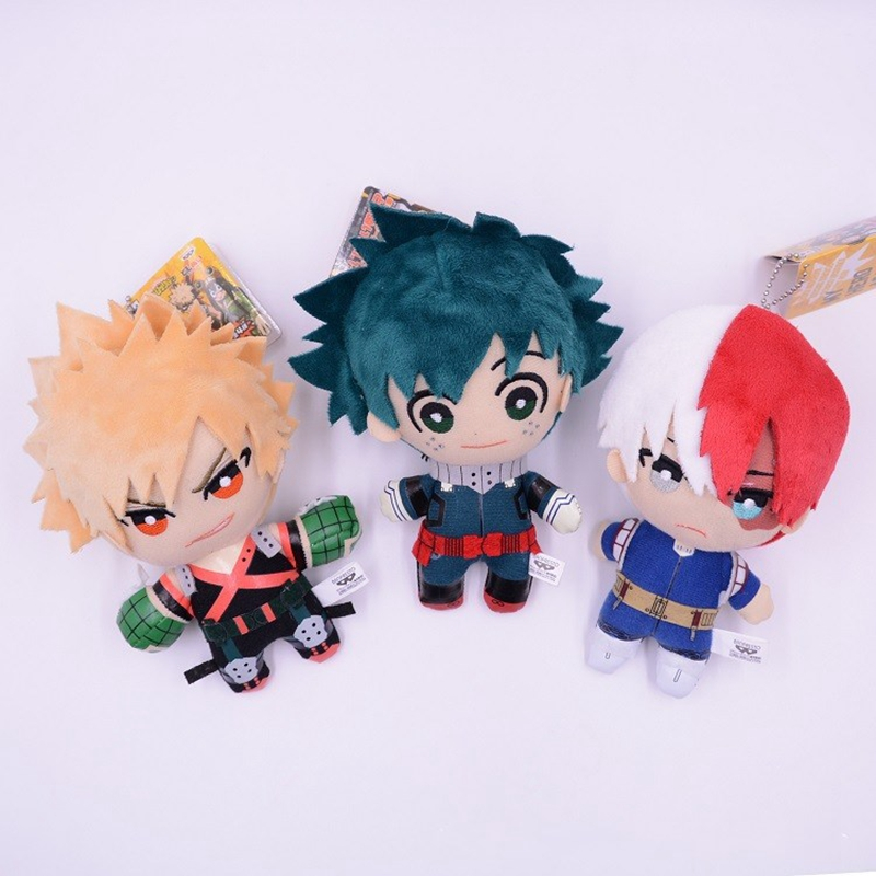 Anime My Hero Academia Izuku Midoriya Katsuki Bakugou Shouto Todoroki Plush pendant toy 15CM Soft Stuffed dolls Gift