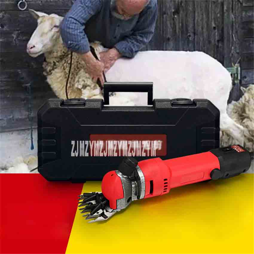 ST002 Upgraded Version of High-power <font><b>6</b></font> Speed Adjustable Energy-saving Wool Shears 220V 0-2800r/min 690W(+<font><b>9</b></font> Tooth Straight <font><b>Knife</b></font>) image