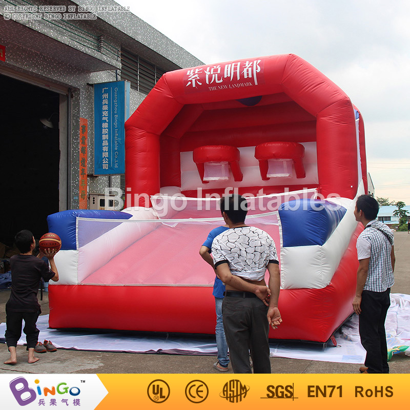 Free shipping Fling games toys inflatable basketball hoop for adults and children free shipping sealed airtight basketball goal inflatable sports games with free ce pump