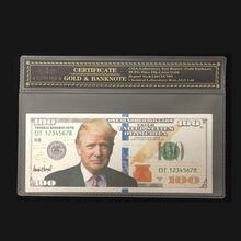 2018 Новые товары для серебряной банкноты американского Трампа 100 доллара банкноты в 24k посеребренные с COA рамкой для коллекции