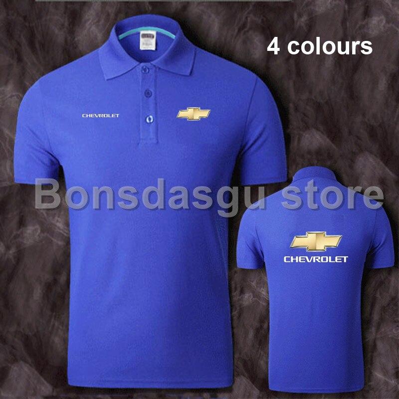 Bonne Qualité Plus La Taille Marque Vêtements Chevrolet Coton Polo Shirt