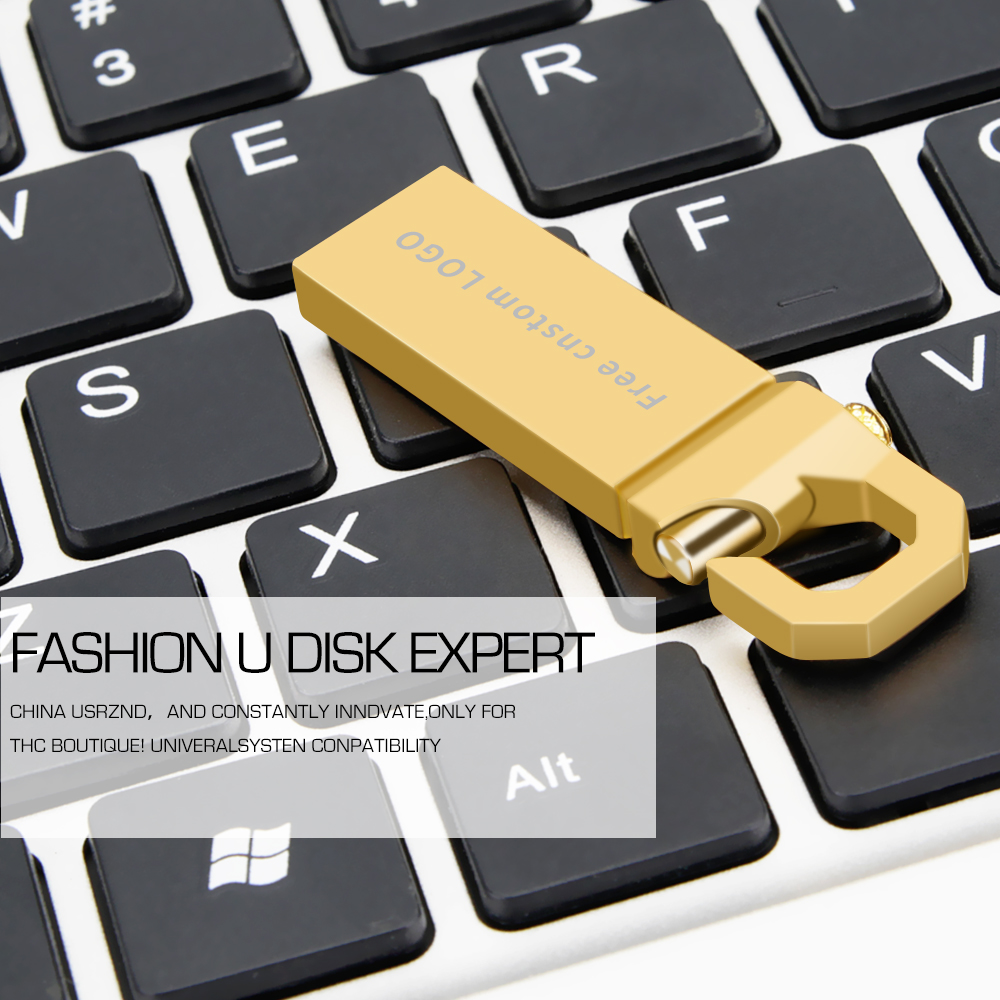 Usb Flash Drive 128 Gb Usb 3.0 Metal Pen Drive 128GB 64GB 32GB 16GB 8GB 4GB High Speed Gold Pendrive Memory Stick Free Shipping