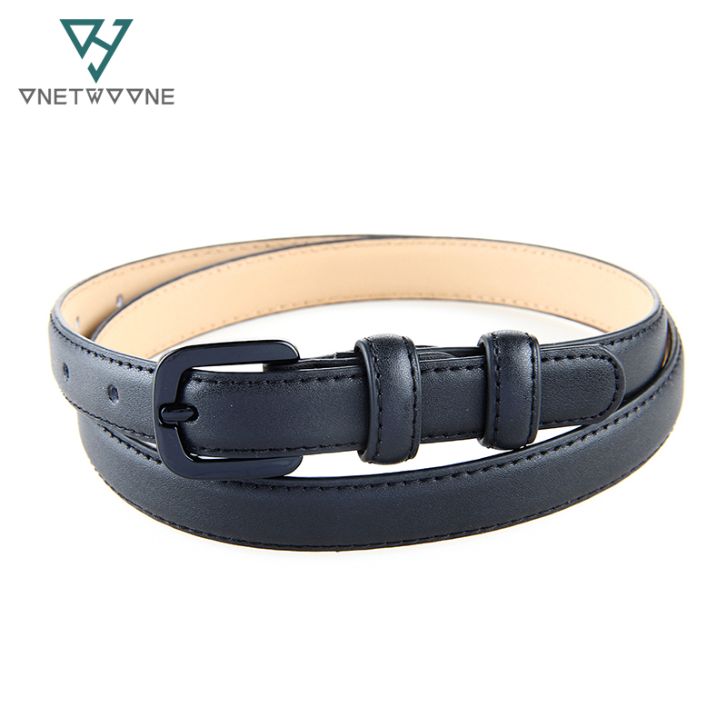 New Fashion Women Genuine Leather   Belt   Straps Skinny Leather   Belts   Female Ladies Jeans Pants   Belt   Casual Straps Black Blue White