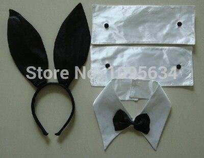 ПП Банни уха повязка на голову комплект черный нарядное платье костюм курица вечерние кролик
