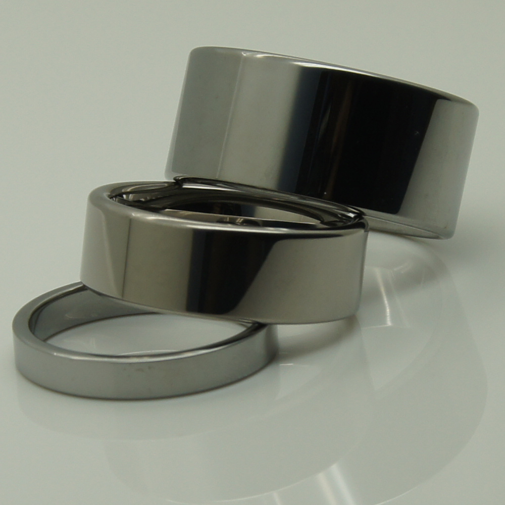 8mm pipe cut hi-tech scratch proof wedding tungsten ring 1pc