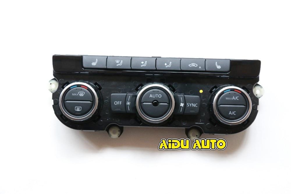 35D 907 044 UN Climatronic Contrôle Climatisation Commutateur de Panneau AC Chauffage des Sièges Pour VW Passat B7 CC Tiguan Golf 6 35D907044A