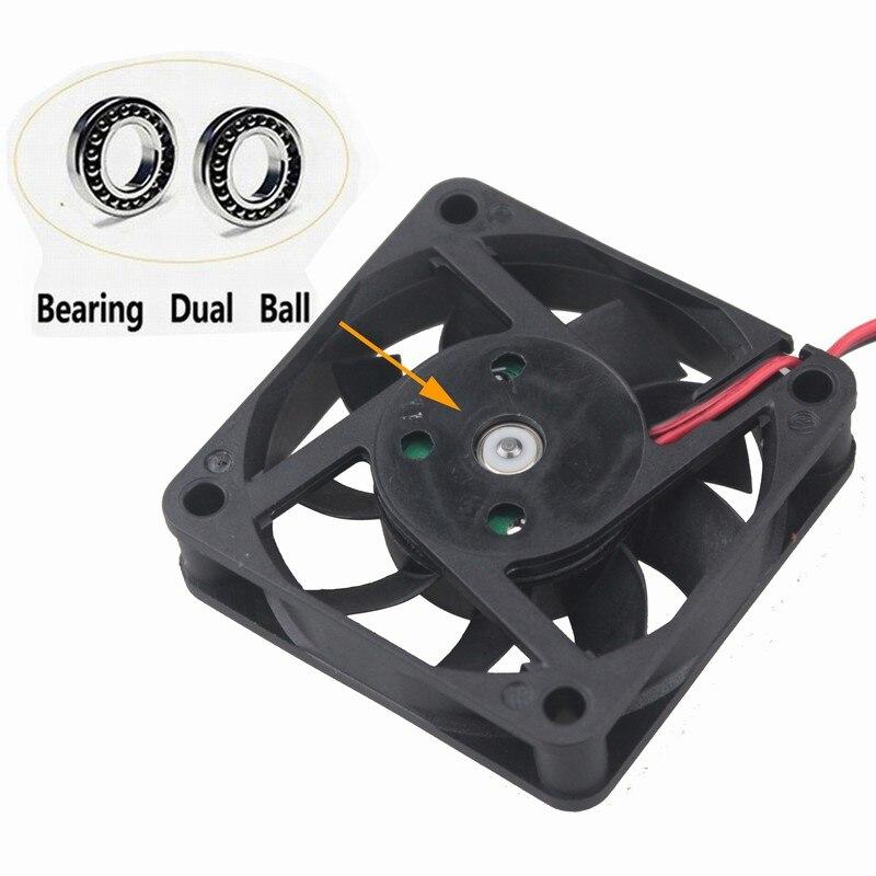 20 Pcs Gdstime 24V 6cm Dual Ball 60mm x 15mm Motor Machine Equitment Case Brushless Cooler