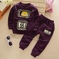 Горячая Продажа! новый Комплект Одежды Младенца новорожденных Девочек Одежда С Длинным Рукавом футболка + брюки 2 шт. Костюм Младенца Хлопка Девушки Одежда для новорожденных Набор
