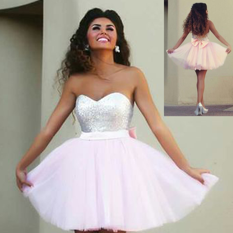 Robe De Bal courte Sweetheart Sequined