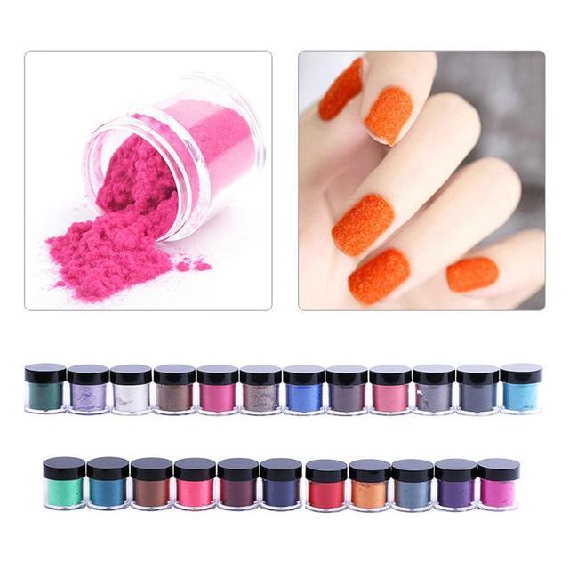 Caliente Mejor Oferta Beauty Girl 23 Colores Terciopelo Flocado Polvo para Velvet Uñas de Manicura Consejos Polish Art Dec.9
