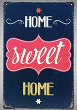 1 pc home sweet house garden Tin Plate Sign wall plaques man cave Decoration Dropshipping Poster metal