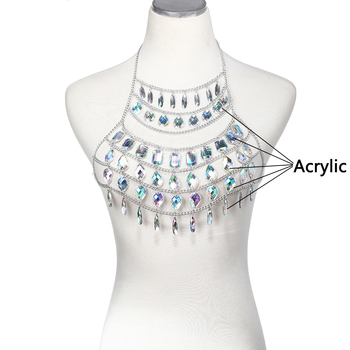 Rhinestone Body Harness Chain7
