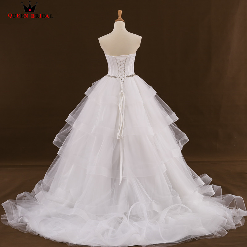 Custom Size Ball Gown Sweetheart Ruffle Organza Long Formal Wedding ...